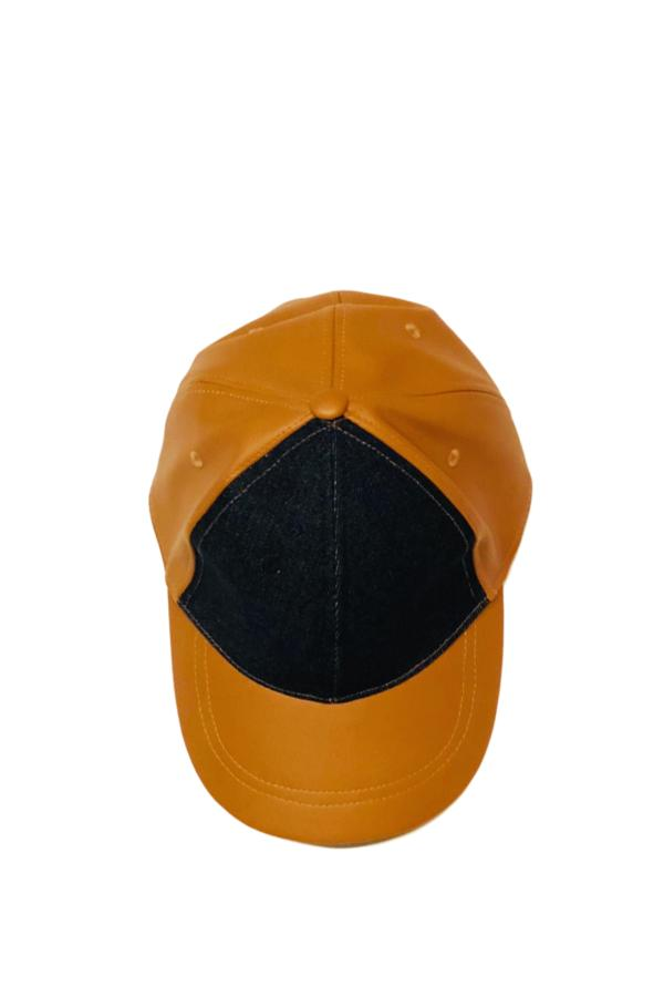 leather denim cap from the top