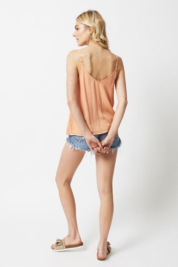 chloe oliver peach cami with shorts