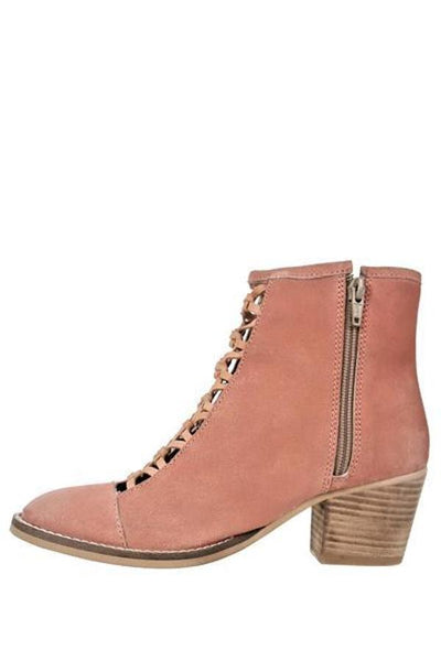 suede booties with zipper