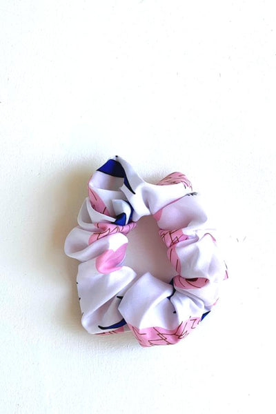 Scrunchie - Pink/white