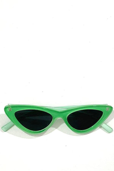 Cat Eye Sunglasses - Green