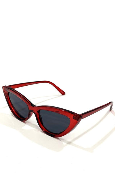 Cat Eye Sunglasses - Red