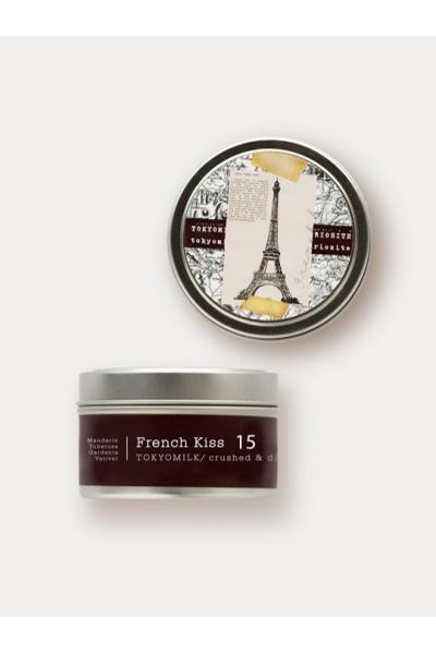 travel candle with eiffel tower