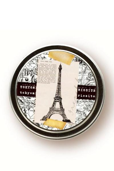 cute travel candle in a tin