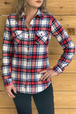 white and red plaid shirt for teenage girls and women