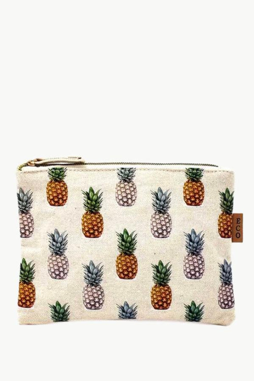cosmetic bag with pineapples