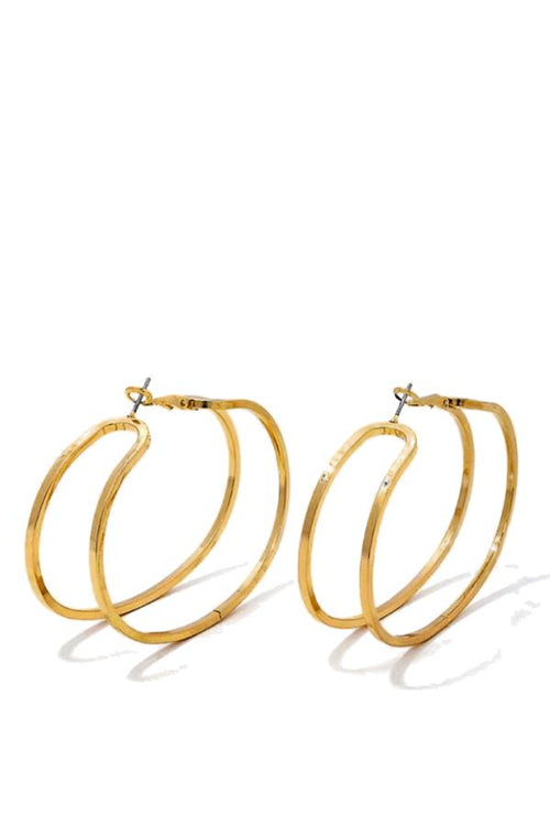 Gold Cut Out Hoops