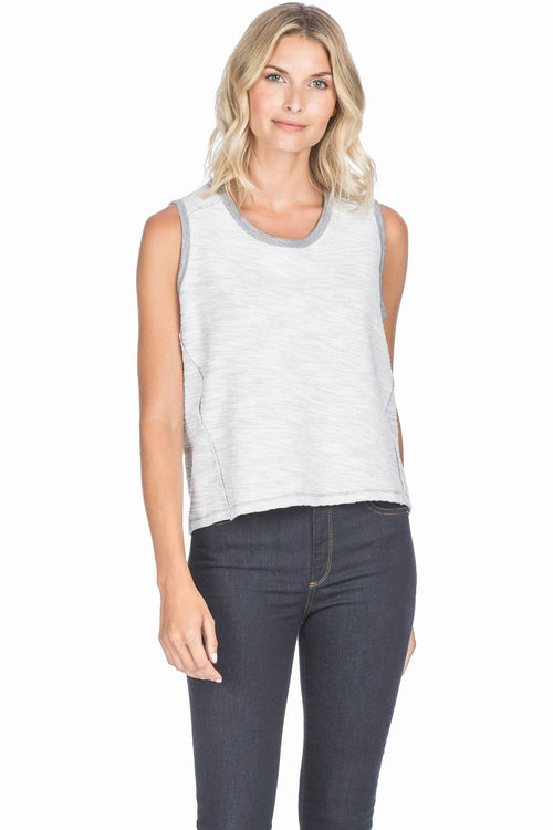 REVERSIBLE SLEEVELESS WRAP BACK TOP