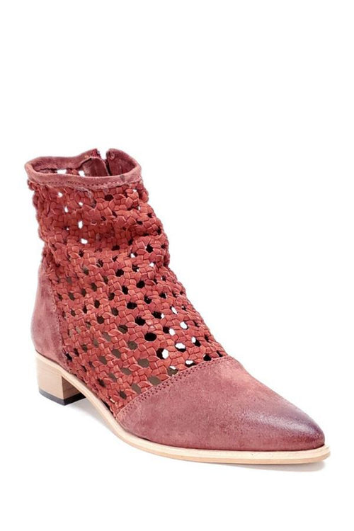 Rebels burnt orange perforated bootie