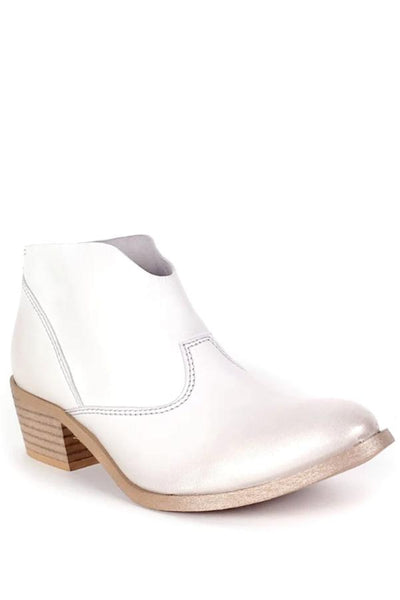 Rebels white ankle bootie