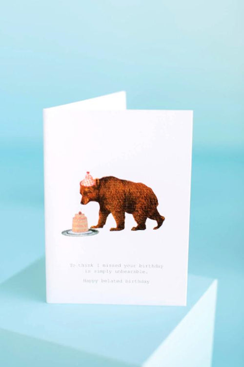 Simply Unbearable Greeting Card
