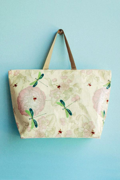 Roses And Dragonflies Tote