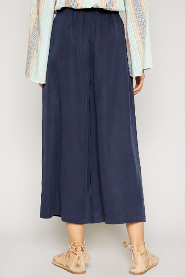 Twill Wide Pants - Navy