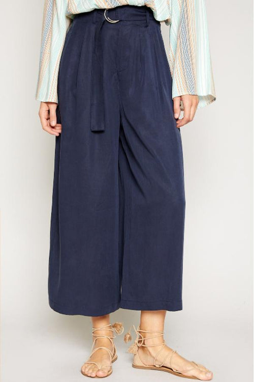 Tava Twill Wide Pants - Navy