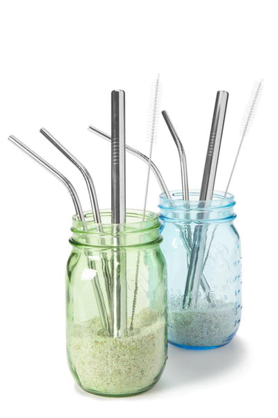 #Savethesnow Denver Colorado Stainless Steel Straw Set
