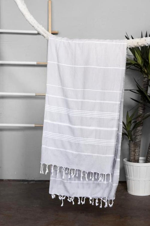 Turkish Towel - Light Gray