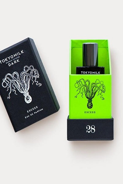 excess perfume in green box