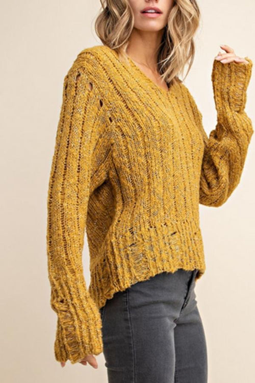 cute mustard yellow hoodie sweater