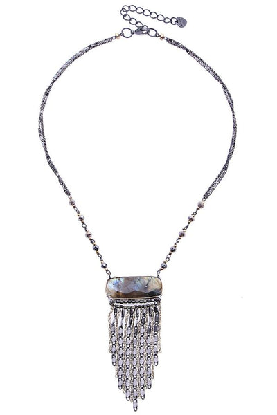necklace with fringe pendant