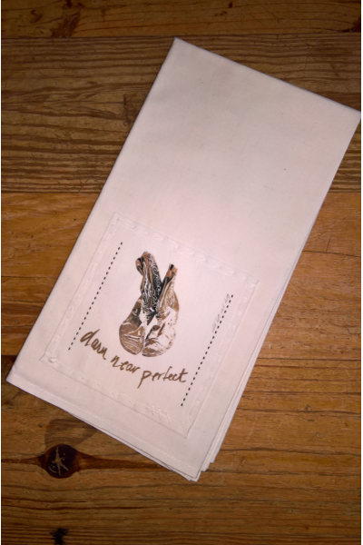 HAND STITCHED DETAIL TEA TOWEL - Frinje