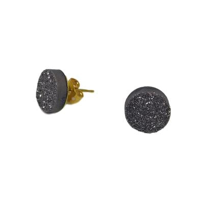 DRUZZY STUDS IN CHARCOAL