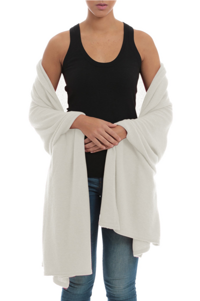 white cashmere throw