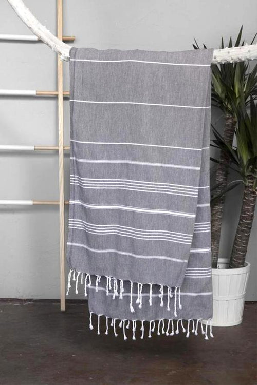 Turkish Towel - Dark Grey