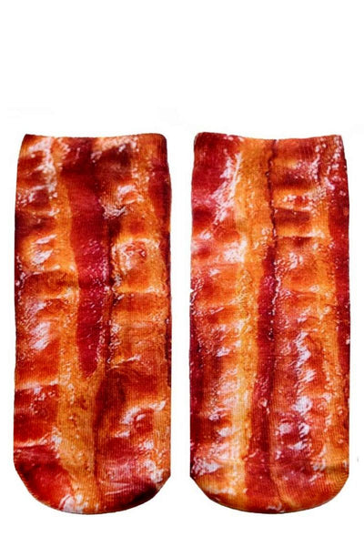 socks with bacon design