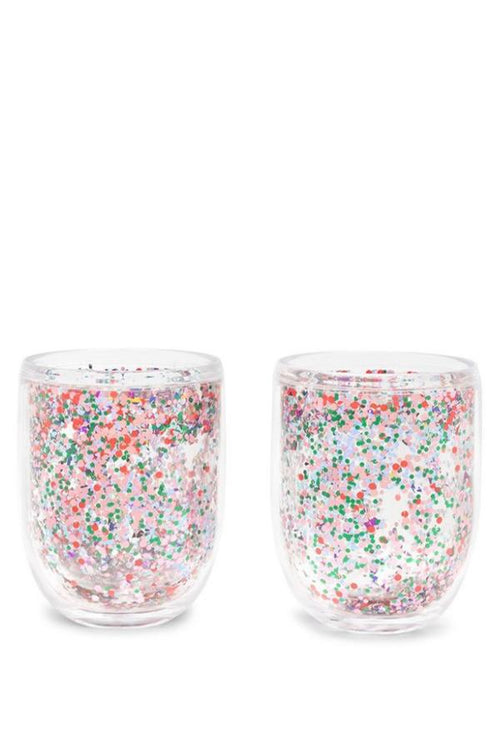 tumbler set with glitters