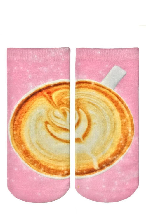 socks with cappuccino graphic