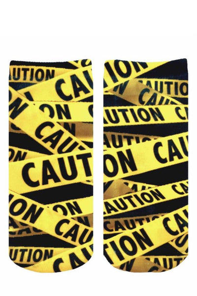 socks with caution tape