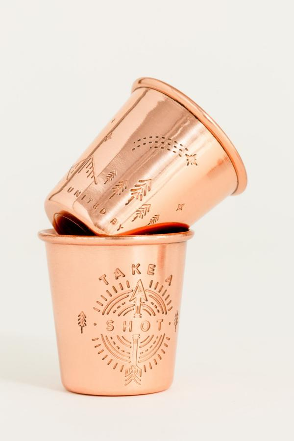 Set of 4 - In The Dark Copper Shot Glass Set