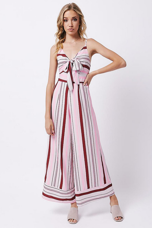 Chloe and Oliver striped jumpsuit