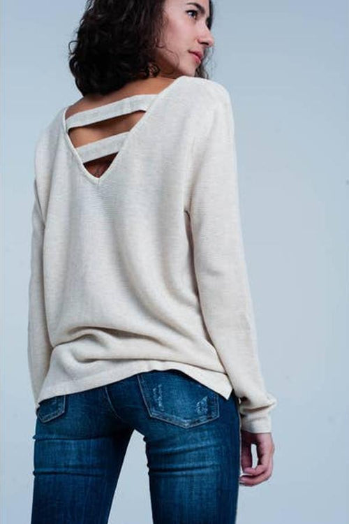 cute womens sweater beige