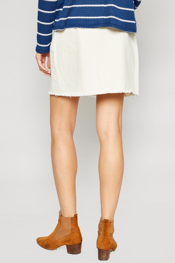 Lea Washed Twill Mini Skirt