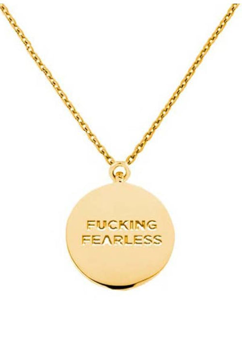 womens gold plated round pendant necklace