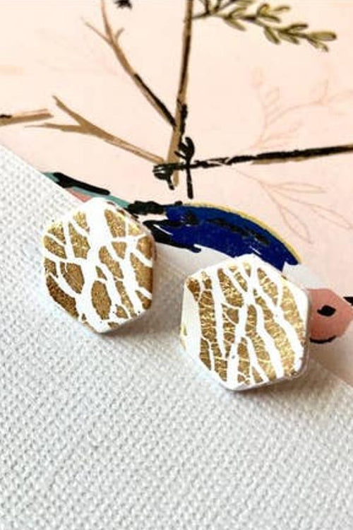 cute honey comb earrings