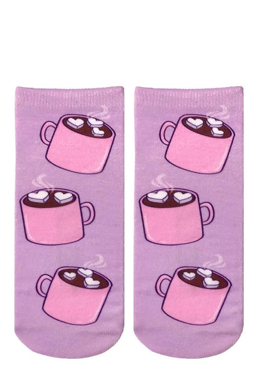 ankle socks with hot chocolate design