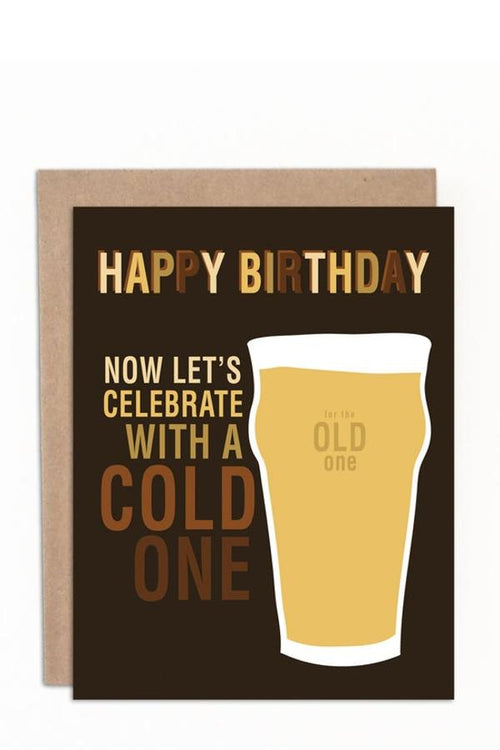 Let's Celebrate With A Cold One - Card