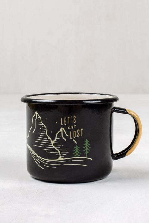 Get Lost 12oz. Enamel Steel Mug