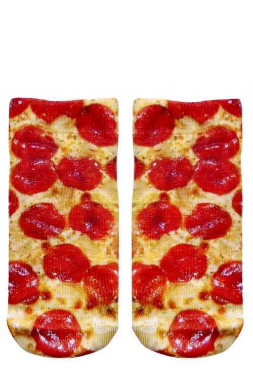 living royal ankle socks pizza print