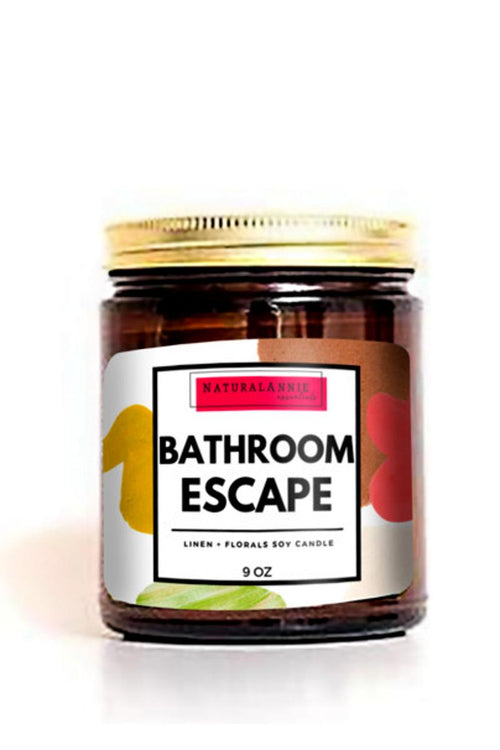 cute natural soy candle with bathroom escape funny saying
