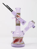 Aaron Sokol Glass Purple Rain Art of War Mini Tube