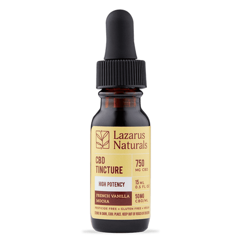 Lazarus Naturals CBD Tincture High Potency Full Spectrum French Vanilla Mocha 15ML 750MG