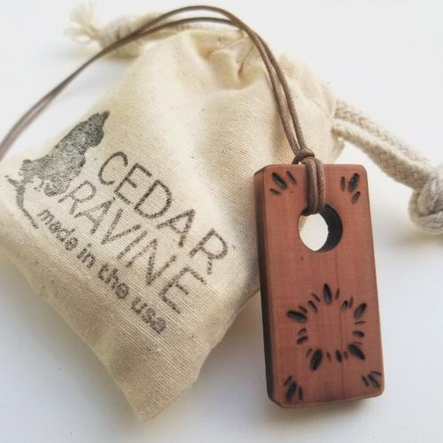 Cedar Pendant Wood Jewelry by Cedar Ravine