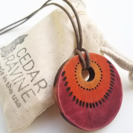 Cedar Pendant Wood Jewelry by CedarRavine.com mother's day gift