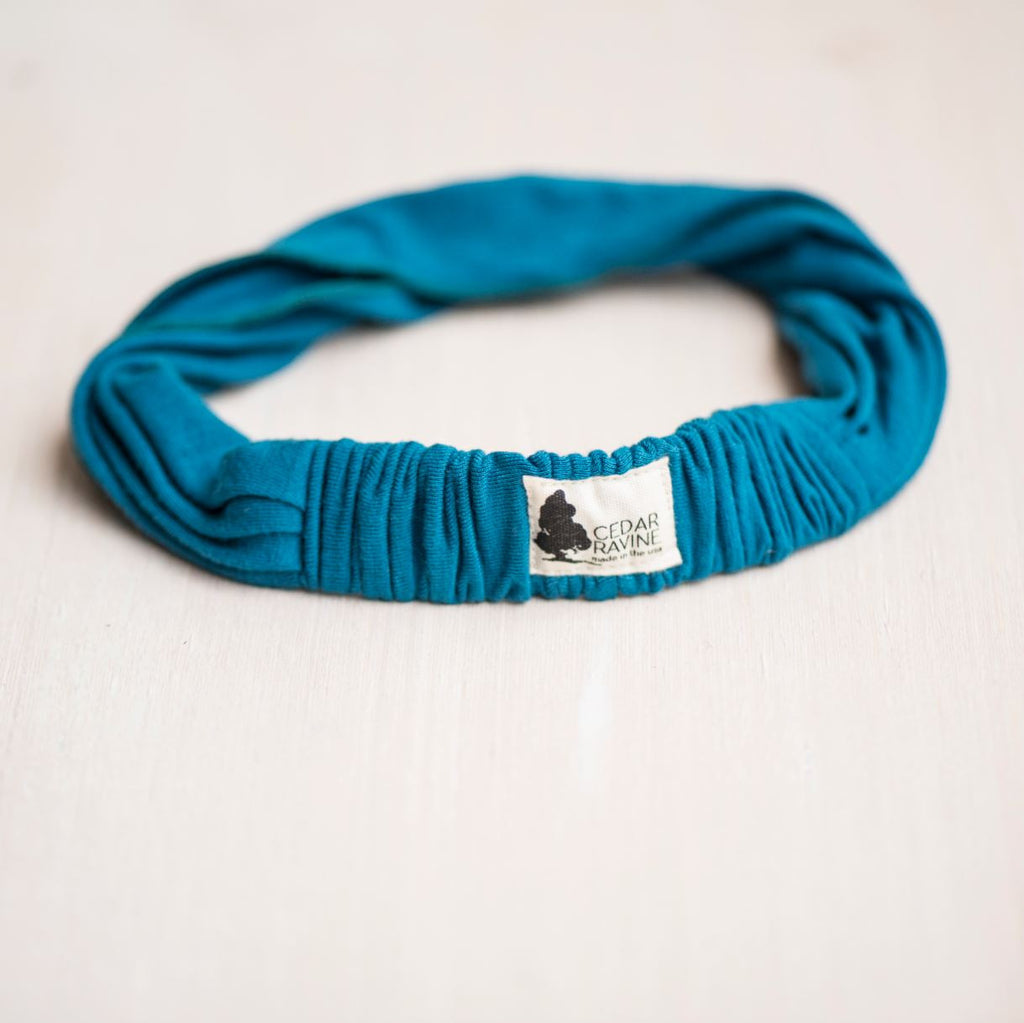 Wait and Sea Hand Dyed Headband - Cedar Ravine - Headbands - 2
