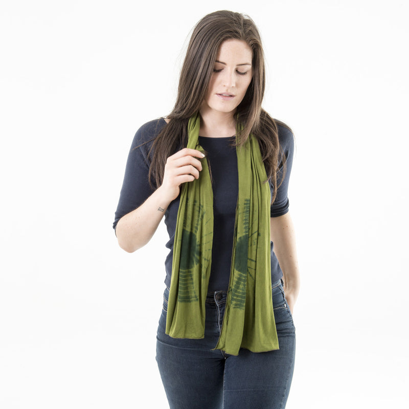 Out on a Limb Tie Dyed Scarf
