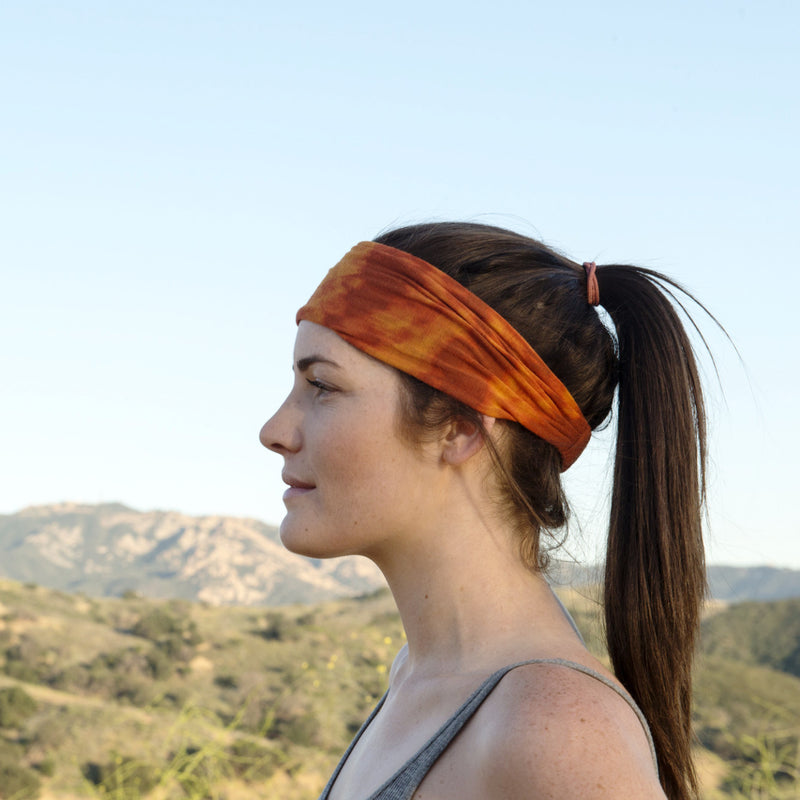 Fire Tie Dyed Headband