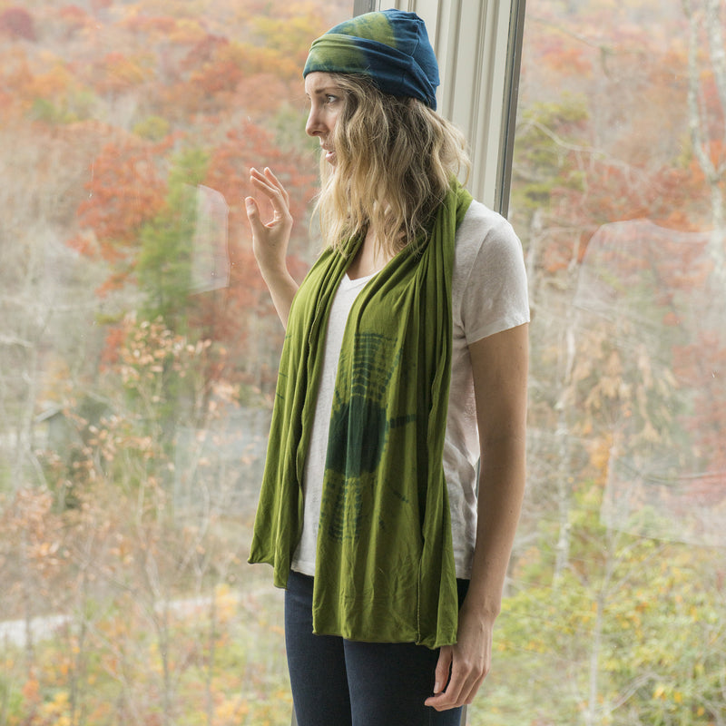 Out on a Limb Tie Dyed Scarf - Cedar Ravine - 2